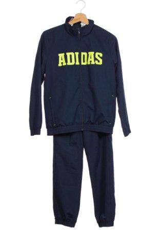 Dětský sportovní komplet  Adidas, Velikost 10-11y/ 146-152 cm, Barva Modrá, Polyester, Cena  941,00Kč