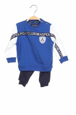 Παιδικό συνολακι Aspen Polo Club, Μέγεθος 9-12m/ 74-80 εκ., Χρώμα Μπλέ, Βαμβάκι, Τιμή 32,12€