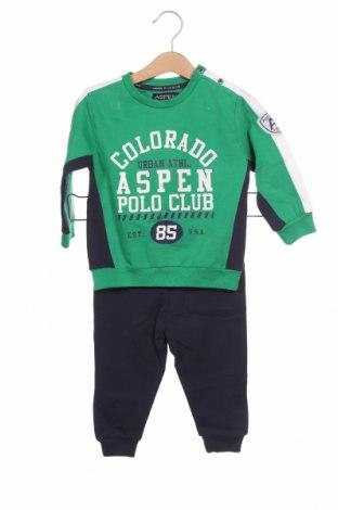 Παιδικό συνολακι Aspen Polo Club, Μέγεθος 9-12m/ 74-80 εκ., Χρώμα Πράσινο, Βαμβάκι, Τιμή 28,50€