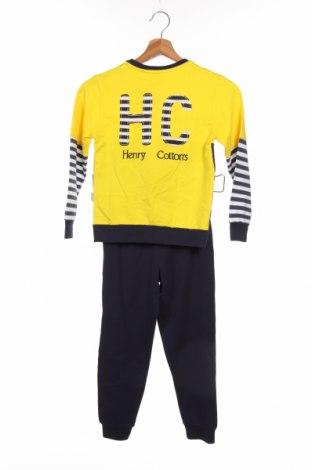 Παιδικό συνολακι Henry Cotton's, Μέγεθος 5-6y/ 116-122 εκ., Χρώμα Μπλέ, 95% βαμβάκι, 5% ελαστάνη, Τιμή 32,12€