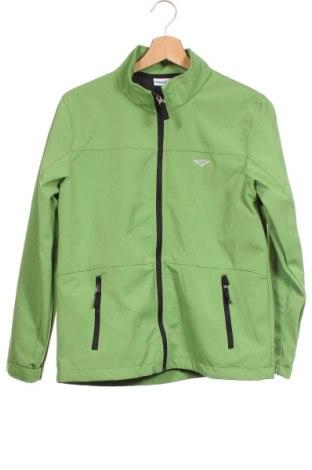 Детско спортно яке Pocopiano, Размер 12-13y/ 158-164 см, Цвят Зелен, 91% полиестер, 9% еластан, Цена 31,92лв.