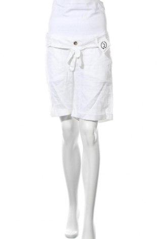 Pantaloni scurți pentru gravide Esprit, Mărime M, Culoare Alb, 96% bumbac, 4% elastan, Preț 7,35 Lei