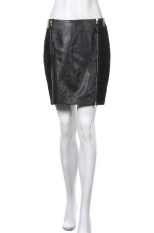 Кожена пола Day Birger Et Mikkelsen, Размер S, Цвят Черен, Естествена кожа, естествен велур, Цена 64,58лв.