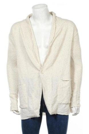 Мъжка жилетка Zara Man, Размер M, Цвят Екрю, 63% полиестер, 19% лен, 18% памук, Цена 29,40лв.