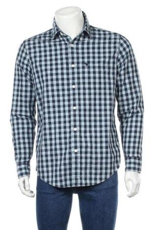 Мъжка риза Abercrombie & Fitch, Размер M, Цвят Син, 98% памук, 2% други тъкани, Цена 34,02лв.