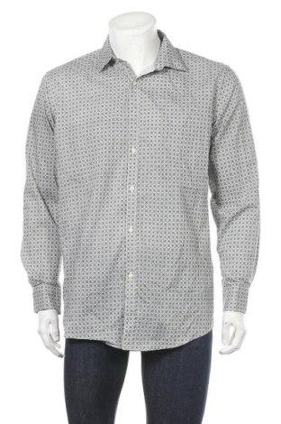 Мъжка риза Adrienne Vittadini, Размер L, Цвят Многоцветен, 60% памук, 37% полиестер, 3% еластан, Цена 32,55лв.