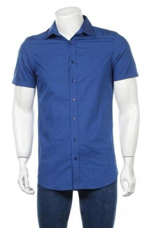Мъжка риза Angelo Litrico, Размер S, Цвят Син, 100% памук, Цена 17,85лв.