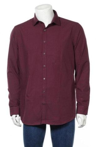 Мъжка риза Angelo Litrico, Размер L, Цвят Червен, 54% памук, 46% полиестер, Цена 4,73лв.