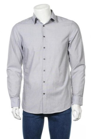 Мъжка риза Angelo Litrico, Размер M, Цвят Сив, 100% памук, Цена 18,95лв.