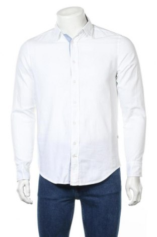 Мъжка риза Boss Orange, Размер S, Цвят Бял, 100% памук, Цена 81,27лв.