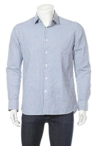 Ανδρικό πουκάμισο Charles Vogele, Μέγεθος L, Χρώμα Μπλέ, 97% βαμβάκι, 3% ελαστάνη, Τιμή 13,58€