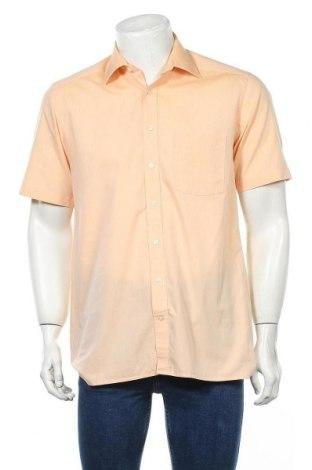 Мъжка риза Christian Berg, Размер M, Цвят Оранжев, 100% памук, Цена 19,95лв.