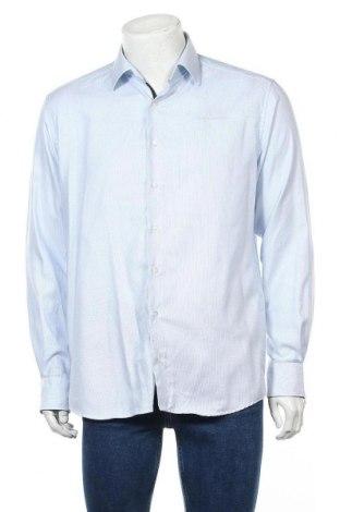 Мъжка риза Eterna, Размер L, Цвят Син, Памук, Цена 18,90лв.