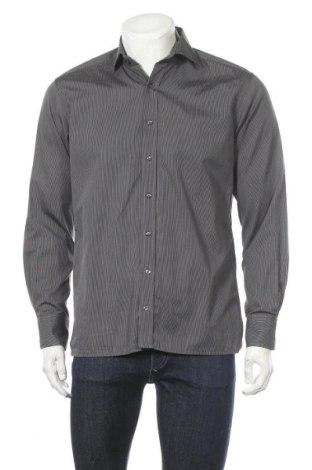 Мъжка риза Eterna, Размер M, Цвят Черен, Памук, Цена 4,73лв.