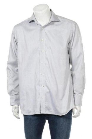 Мъжка риза Eterna, Размер L, Цвят Сив, Памук, Цена 14,33лв.