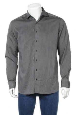 Мъжка риза Eterna, Размер L, Цвят Сив, Памук, Цена 16,38лв.