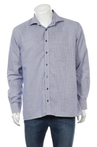 Мъжка риза Eterna, Размер L, Цвят Син, Памук, Цена 13,23лв.
