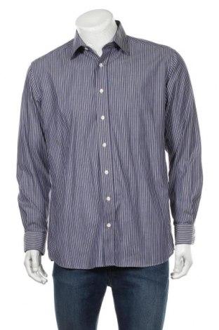 Мъжка риза Eterna, Размер L, Цвят Син, 100% памук, Цена 14,96лв.