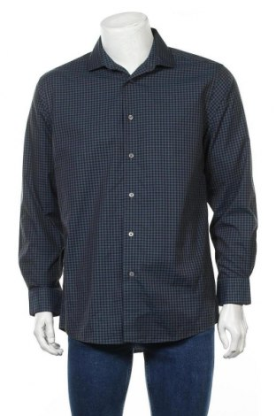Мъжка риза Kenneth Cole, Размер L, Цвят Син, Памук, Цена 19,95лв.