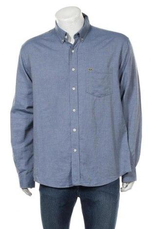 Ανδρικό πουκάμισο Lacoste, Μέγεθος XXL, Χρώμα Μπλέ, Βαμβάκι, Τιμή 23,38€