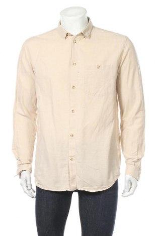 Мъжка риза Mtwtfss Weekday, Размер L, Цвят Бежов, Памук, Цена 16,07лв.