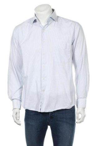 Мъжка риза Pierre Cardin, Размер M, Цвят Син, 73% памук, 24% полиамид, 3% еластан, Цена 11,16лв.