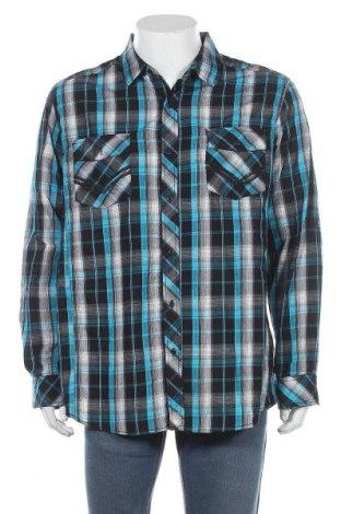 Мъжка риза Route 66, Размер XL, Цвят Многоцветен, 68% памук, 32% полиестер, Цена 4,73лв.