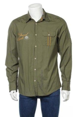 Мъжка риза Tom Tailor, Размер L, Цвят Зелен, Памук, Цена 23,94лв.