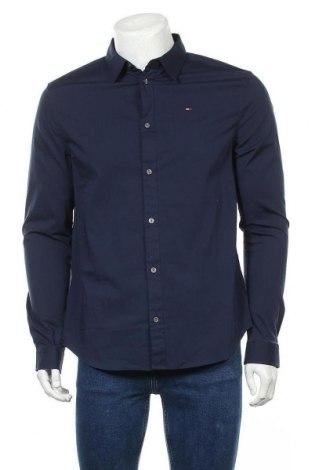 Ανδρικό πουκάμισο Tommy Hilfiger, Μέγεθος L, Χρώμα Μπλέ, 97% βαμβάκι, 3% ελαστάνη, Τιμή 49,87€