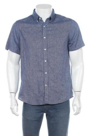 Ανδρικό πουκάμισο Tommy Hilfiger, Μέγεθος L, Χρώμα Μπλέ, 55% βαμβάκι, 45% λινό, Τιμή 25,33€