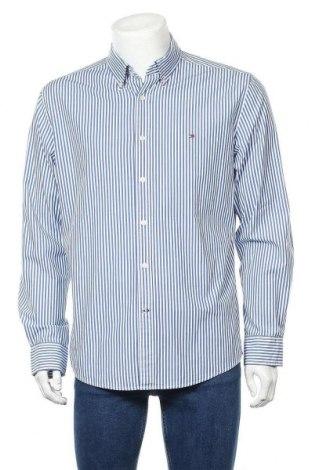 Мъжка риза Tommy Hilfiger, Размер L, Цвят Син, 97% памук, 3% еластан, Цена 31,50лв.
