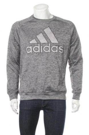 Мъжка спортна блуза Adidas, Размер M, Цвят Сив, Полиестер, Цена 37,91лв.