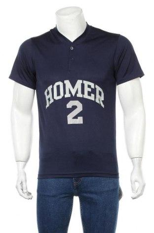 Мъжка тениска Alleson, Размер S, Цвят Син, Полиестер, Цена 20,95лв.