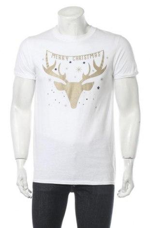 Мъжка тениска, Размер M, Цвят Бял, Памук, Цена 19,50лв.