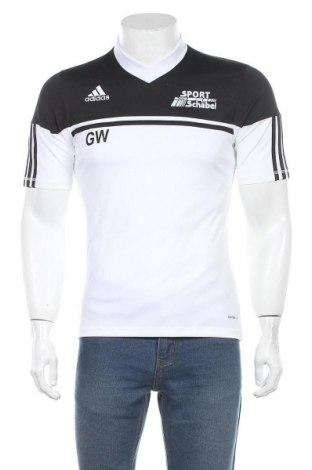 Мъжка тениска Adidas, Размер S, Цвят Бял, Полиестер, Цена 16,80лв.
