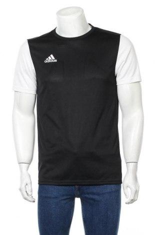 Мъжка тениска Adidas, Размер M, Цвят Черен, Полиестер, Цена 24,00лв.