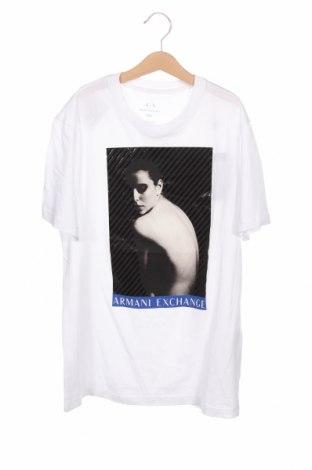 Мъжка тениска Armani Exchange, Размер XS, Цвят Бял, 100% памук, Цена 72,27лв.