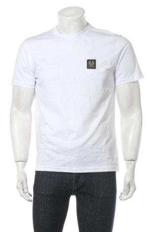 Мъжка тениска Belstaff, Размер M, Цвят Бял, Памук, Цена 90,72лв.