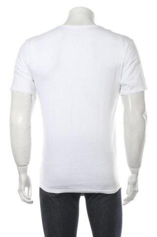 Мъжка тениска Calvin Klein, Размер M, Цвят Бял, 95% памук, 5% еластан, Цена 46,50лв.