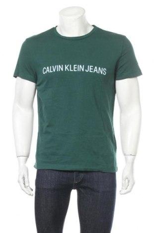 Pánské tričko  Calvin Klein Jeans, Velikost M, Barva Zelená, Bavlna, Cena  434,00Kč