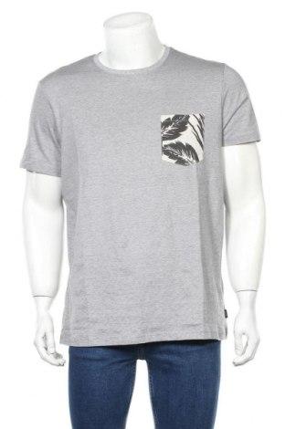 Мъжка тениска Esprit, Размер L, Цвят Сив, Памук, Цена 31,50лв.