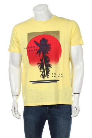 Мъжка тениска Esprit, Размер M, Цвят Жълт, Памук, Цена 25,50лв.