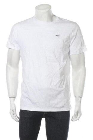 Ανδρικό t-shirt Hollister, Μέγεθος L, Χρώμα Λευκό, Βαμβάκι, Τιμή 9,07€