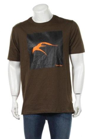 Мъжка тениска Indicode, Размер XL, Цвят Зелен, Памук, Цена 16,50лв.