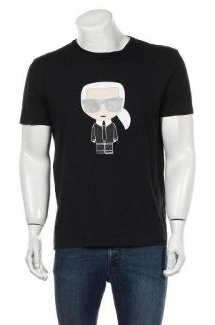 Tricou de bărbați Karl Lagerfeld, Mărime L, Culoare Negru, Bumbac, Preț 400,40 Lei