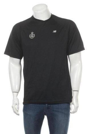 Мъжка тениска New Balance, Размер M, Цвят Черен, Полиестер, Цена 22,05лв.