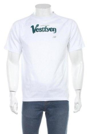 Мъжка тениска New Balance, Размер L, Цвят Бял, Полиестер, Цена 22,05лв.