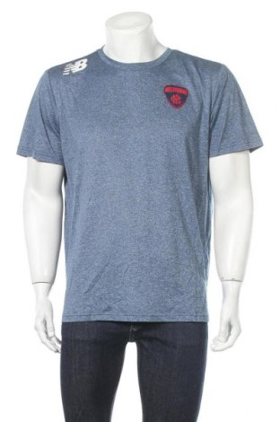 Мъжка тениска New Balance, Размер XL, Цвят Син, Полиестер, Цена 30,24лв.