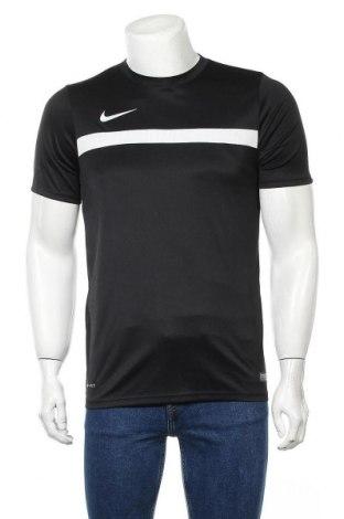 Мъжка тениска Nike, Размер M, Цвят Черен, 100% полиестер, Цена 25,50лв.