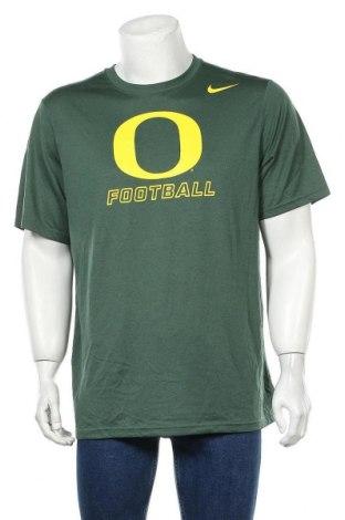 Мъжка тениска Nike, Размер L, Цвят Зелен, Полиестер, Цена 24,94лв.